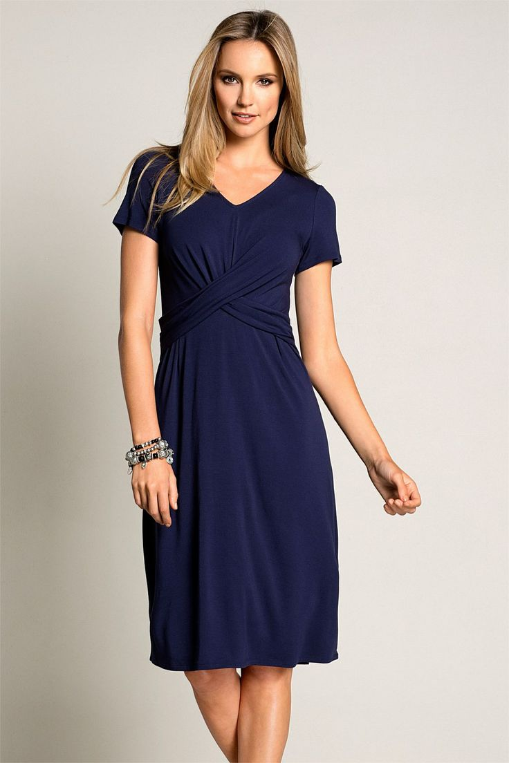 Women's Dresses - Capture Short Sleeved Dress - EziBuy Australia