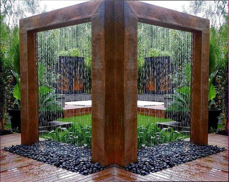 623 best Garten images on Pinterest Backyard ideas, Decks and - wasserfall garten wand
