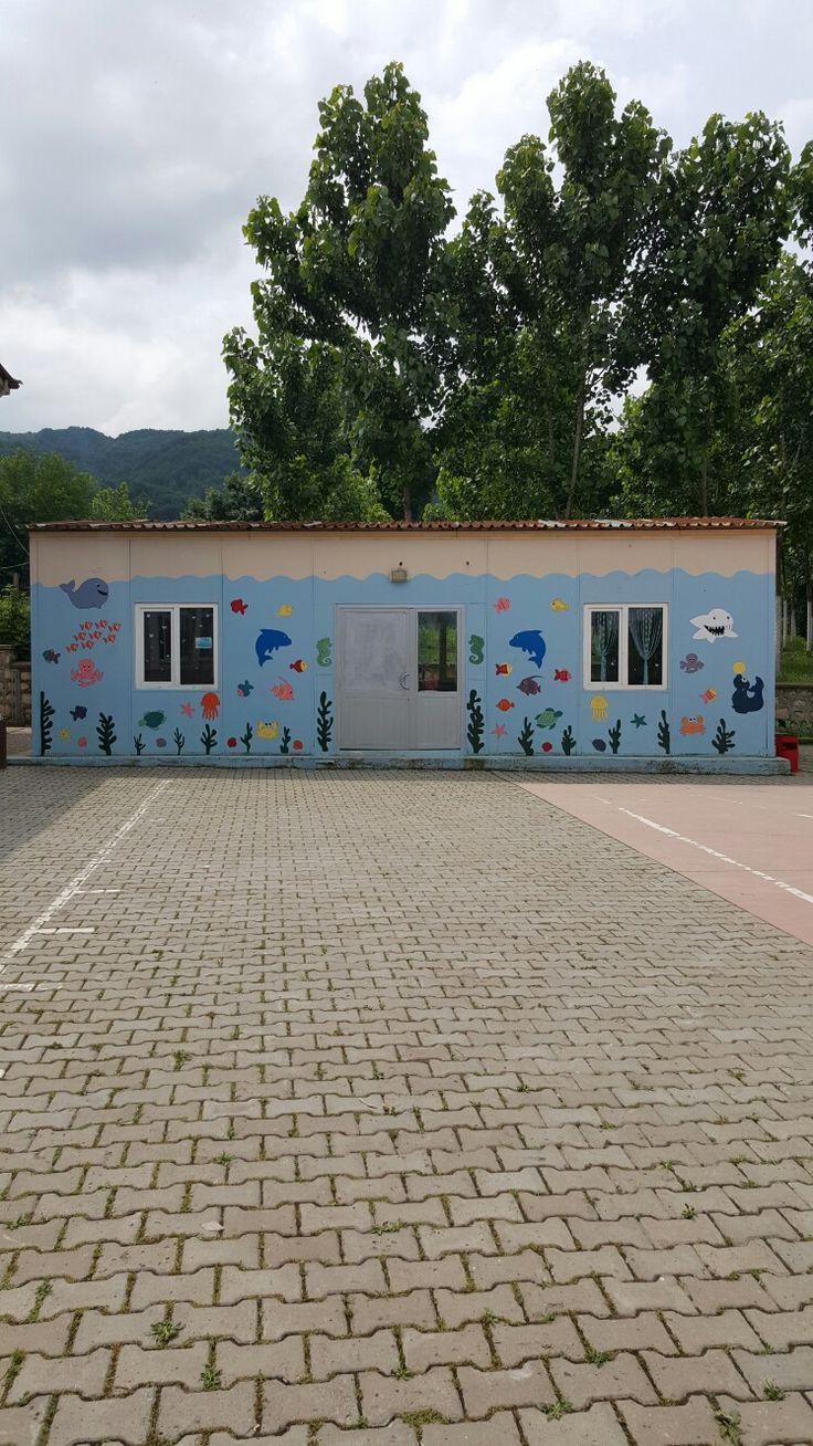 Okul kantini dış boyama ...