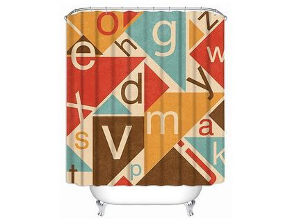 Personalized Shower Curtain, Alphabet Shower Curtains, Customizable $49.00