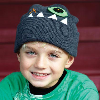 Monster Hats (boys)  http://familyfun.go.com/crafts/holiday-seasonal-crafts/winter-crafts/more-winter-crafts/monster-hats-978363/