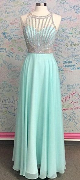 2017 prom dress, long prom dress, sparkly prom dress, mint green prom dress