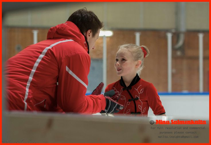 A chat with the coach is a must before one enters the ice