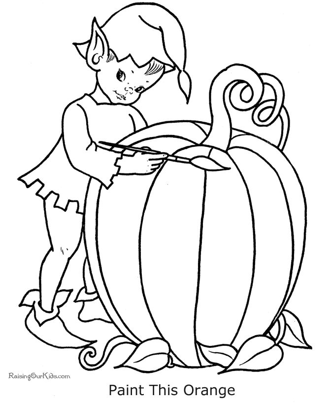 baby pumpkin coloring pages - photo#8