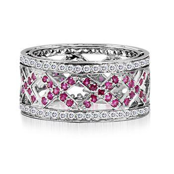 blue and pink diamond wedding band | Pink Diamond Wedding Rings | Wedding Rings