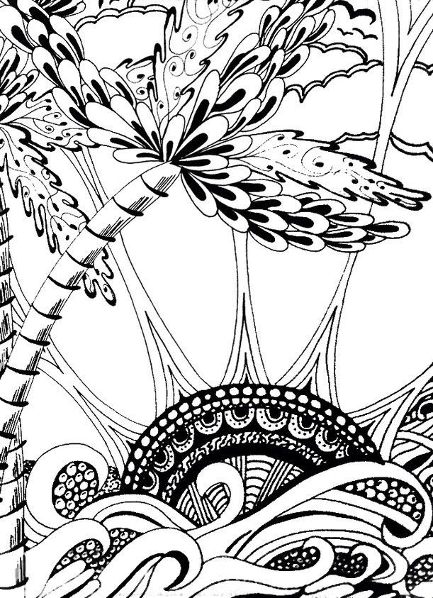 sun ocean coloring pages - photo#6