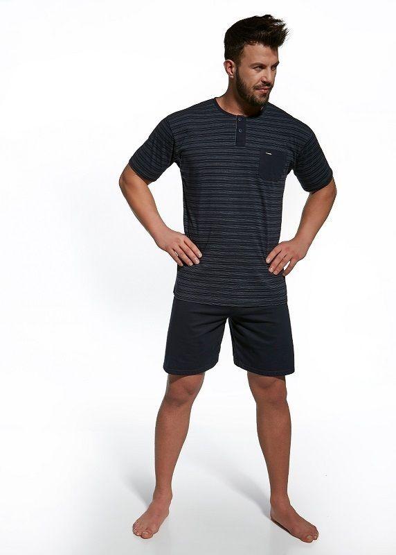 Pyjama homme court été Bleu Marine  Bruno  Cornette S M L XL 2XL qualité