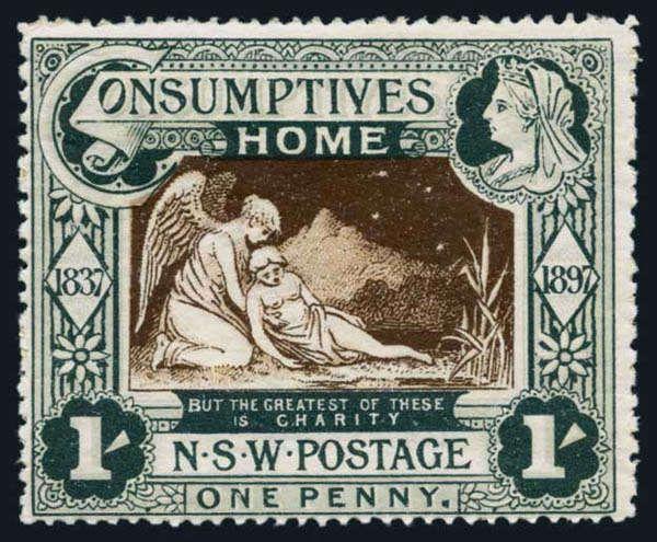 Australia; New South Wales, 1897 Consumptives Home Set, SG #280/1, l.h., fresh colors, Fine to Very Fine. Scott #B1-B2 $422. SG L273. Estima...