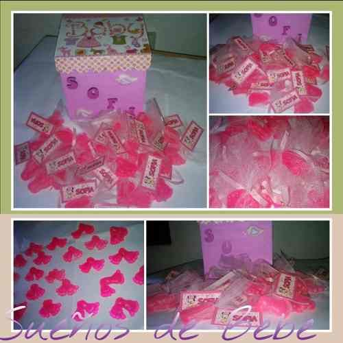 jabones piecitos souvenir nacimiento baby shower