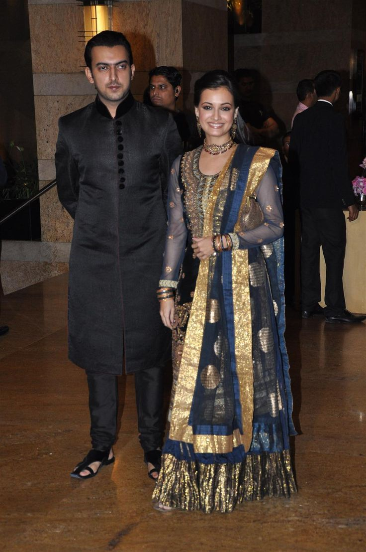 Dia Mirza w/ then BF & Biz Partner, now Life Partner Sahil Sangha