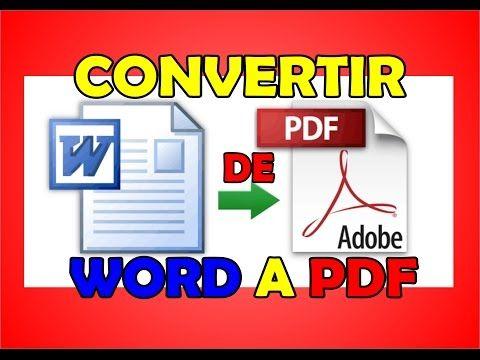 Cómo Convertir Cualquier Archivo a PDF - YouTube