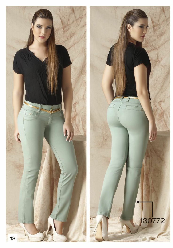 pantalon-de-drill-bota-tubo-color-verde-claro - Sexy, yet Casual #Fashion #sexy #woman #womens #fashion #neutral #casual #female #females #girl #girls #hot  #hotlooks #great #style #styles #hair #clothing  www.ushuaiajean.com.co