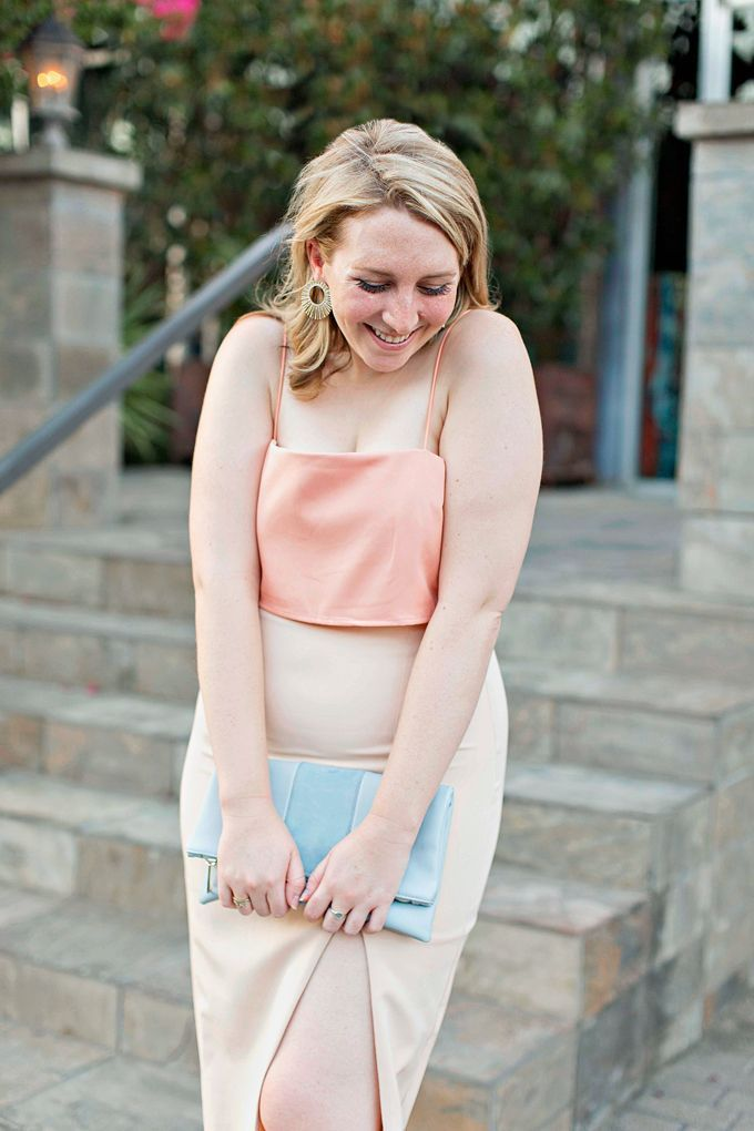 Semi Formal Attire Wedding Love Affair Peach Midi