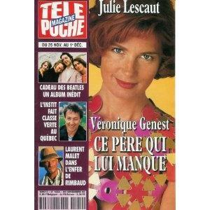Véronique Genest Julie Lescaut : ce père qui lui manque, dans Télé Poche n°1554 du 20/11/1995 [couverture isolée et article mis en vente par Presse-Mémoire]