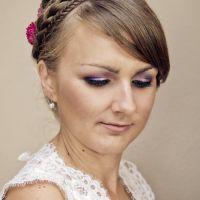 #Makijaż ślubny Warszawa | Złoto z fioletem | Makijaż Panny Młodej | #Wedding #makeup | Make up: Potęga Piękna - Agnieszka Celińska  2013
