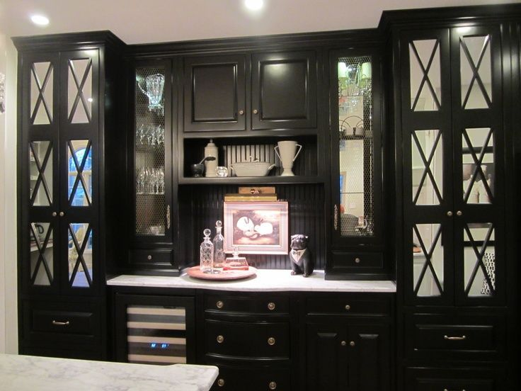 Image Result For Black Built In China Cabinet With Lighting Kitchen Window Design Custom Dining Room Dining Room Furniture Redo