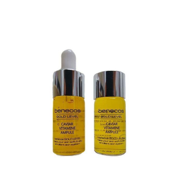 Koreana Cosmetics Benecos Anti Aging Skin Care Beneskin Vitamin Cavier Ample Set #BenecosBeneskin