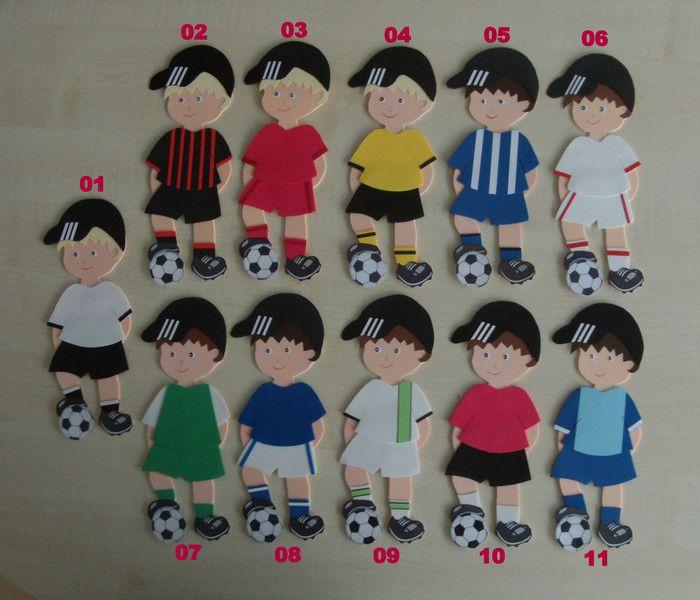 Fußball Deko für Schultüte,Fußball,Verein,36 Teile von Jeanetts_Creativ_Stube auf DaWanda.com