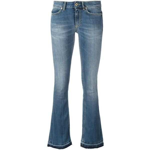 Dondup \'Neon\' Jeans ($134) ❤ liked on Polyvore featuring jeans, dondup jeans, blue jeans, neon jeans, neon blue jeans and dondup