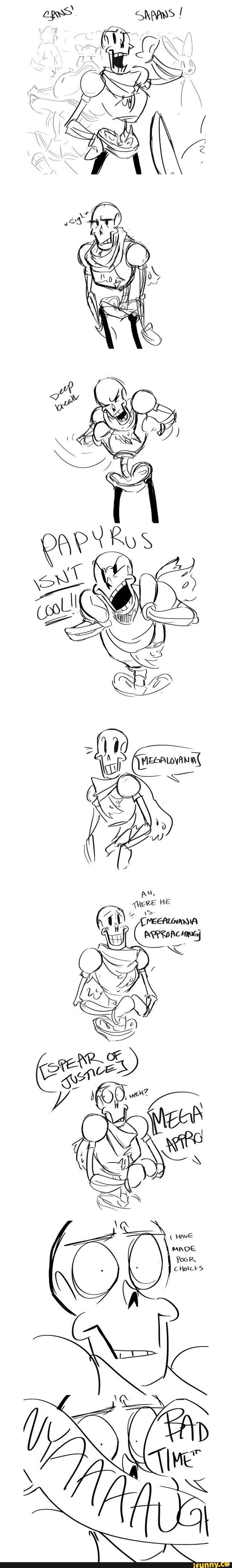 papyrus - omg megalovania and spear of justice *-* you fucked up, papyrus