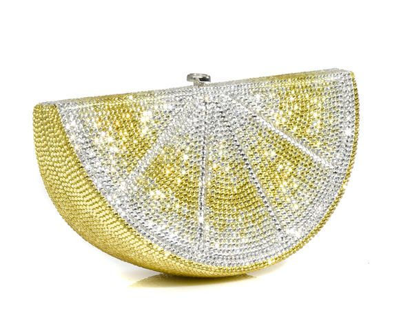 Judith Leiber - Crystal Lemon Wedge Minaudière
