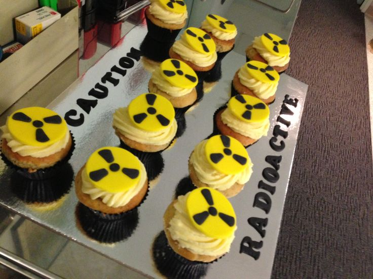 Cupcakes for the nuclear medicine department at the Epworth Hospital :) by Stealing Petit Fours