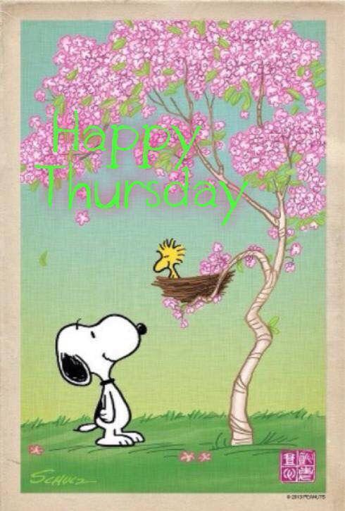 Feliz quinta-feira Snoopy                                                                                                                                                     Mais