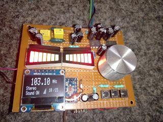 radio, TEA5767, OLED, arduino