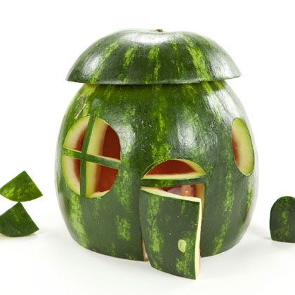 Looking for a sweet real estate deal? Turn the rind of this favorite summertime fruit into a palatial home for toy figures or visiting fairies.