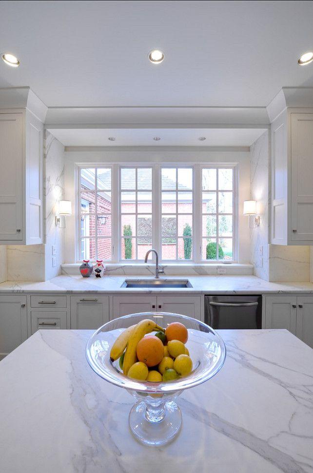 Marble Countertop. White Marble Kitchen Countertop. #Marble #Countertop #kitchen