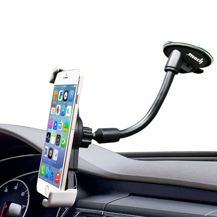 """Car Mount Holder, Ipow Universal Large Device Dashboard/Windshield Cell Phone Holder for iPhone 7 Plus 6 6S 6 Plus SE, Samsung Galaxy Edge S7 S6 S5 S4 S3, Nexus 5/4, LG G3, HTC, GPS and etc. New compatibility: large clip fits devices up to 6 inches device in diagonal screen size, include Samsung Galaxy Edge S7, iPhone 7 7s 6s plus and etc. Can also hold big phone with case. CLIP SIZE: 4.5""""-6"""". New diagonal design clamp: clip smartphone by diagonal clips, provide more secure to your phone..."""