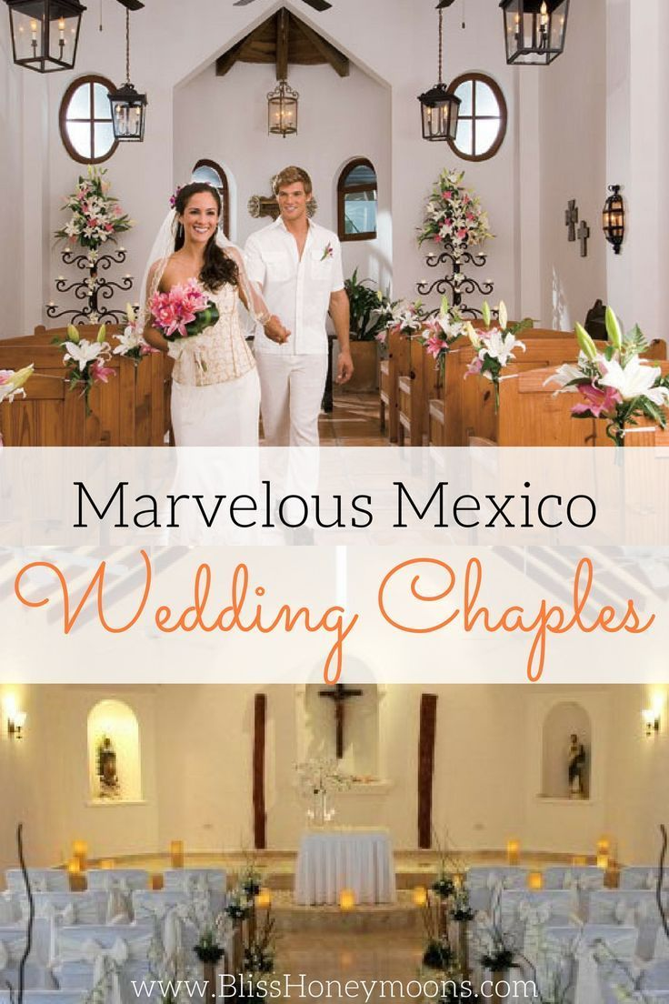 Marvelous Mexico wedding chapels. To complete your perfect destination wedding, choose one of the numerous chapels that dot the landscape of Mexico and boast stunning architecture and gorgeous backdrops. Find a host of services to perfect every detail for your destination wedding, vow renewal or honeymoon getaway at www.blisshoneymoons.com.