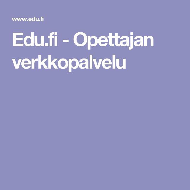 Edu.fi - Opettajan verkkopalvelu
