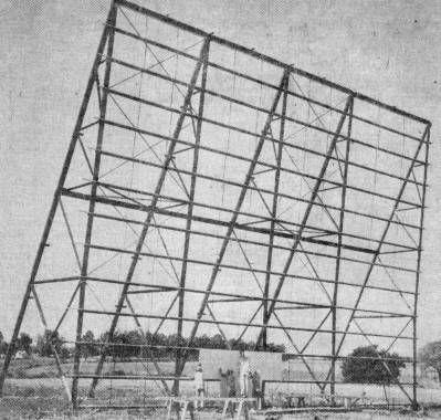 Missouri Route 66: Springfield's Drive In Movie Theaters A blog about Route 66.  The image shown is the construction of the Hi-M Drive-in screen. The blog doesn't seem to have any recent activity, but lots of good information on Route 66.