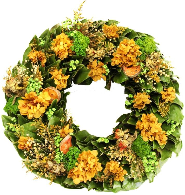 Dried Summertime Wreath-Available in Three Different Sizes www.wellappointedhouse.com