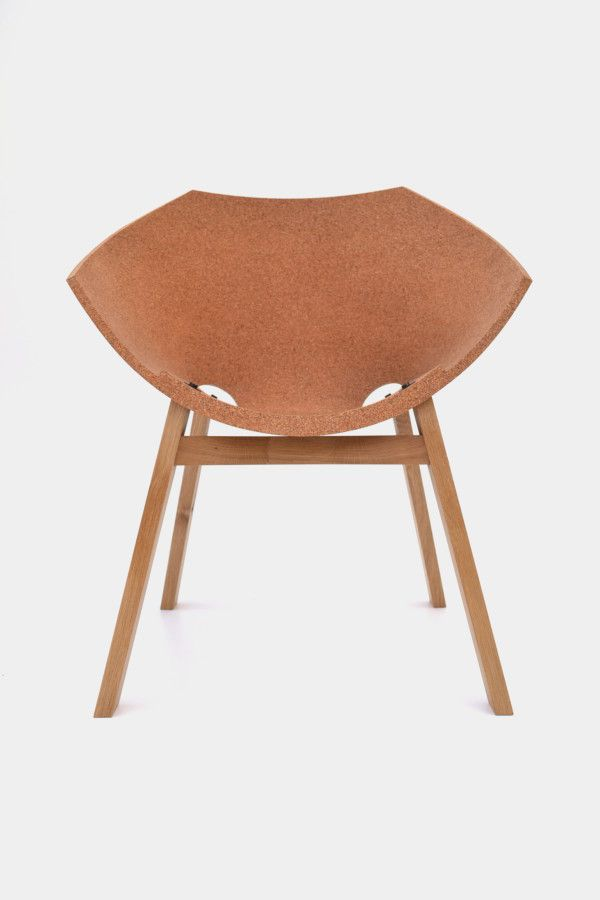FIRSTEDTION: 1 of 10 - Corkigami is a chair inspired by the ancient Japanese art of origami: the creation of 3D objects from 2D materials. We choose cork as our 'origami material' to make this simple shell construction, drawing from an ancient technique.