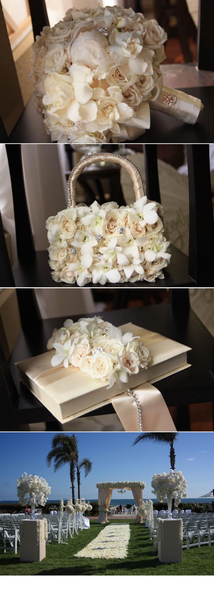 Lushness! Karen Tran Floral Ring Box & Flower girl purse
