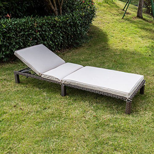 magic union patio adjustable wicker chaise lounge with cushions rh pinterest co uk