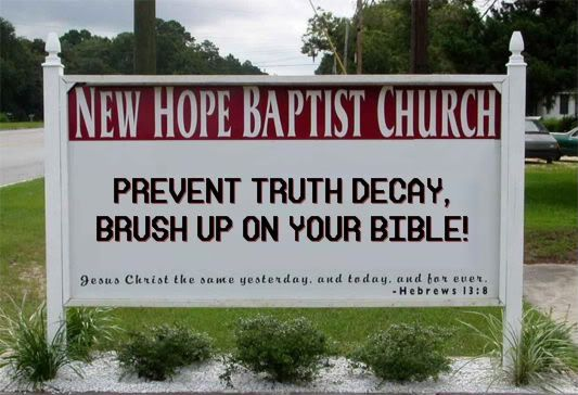 Favorite inspirational sayings you've seen on outdoor church signs - Page 4 - Sitcoms Online Message Boards - Forums