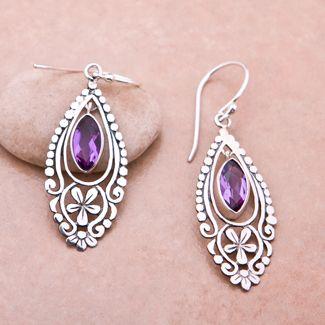 Amethyst earrings,  also my birth stone