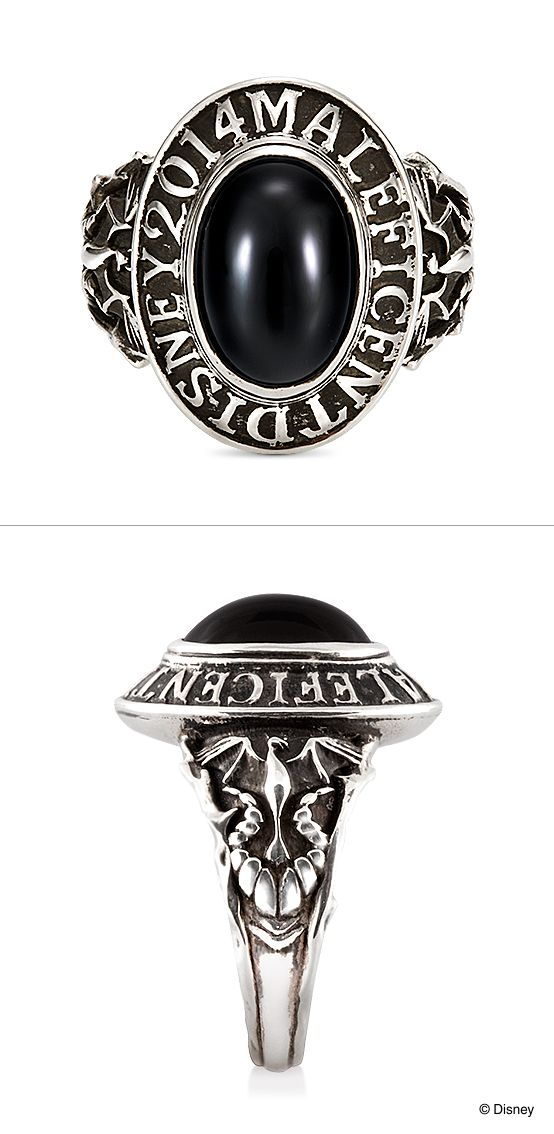 """Ring [MALEFICENT/College Ring]:  Movie, """"MALEFICENT.""""/ 【Ring-MALEFICENT-マレフィセント/カレッジリング-】ディズニー映画『マレフィセント』の公開を記念して作られたリング。カレッジリングスタイルの存在感あるデザイン。アームには、マレフィセントの角や、ドラゴンがデザインされています。/ K.uno is a jewelry brand in Japan. We create bridal and fashion jewelry and apparels from our original to custom made designs. ◆HP→http://www.k-uno.co.jp/ ◆MAIL→k-uno@k-uno.co.jp"""