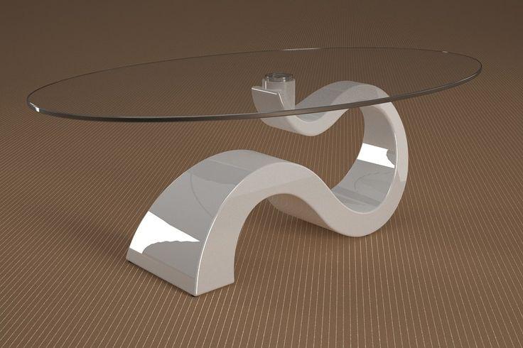 Articolo 491-20     Tavolino da salotto Apopi - Finitura: laccato bianco lucido.Misure: cm 110 x 65  - Altezza: cm 41 - Peso: Kg. 29 - Vetro: ovale -  temperato - extrawhite - filo lucido - spessore 1 cm