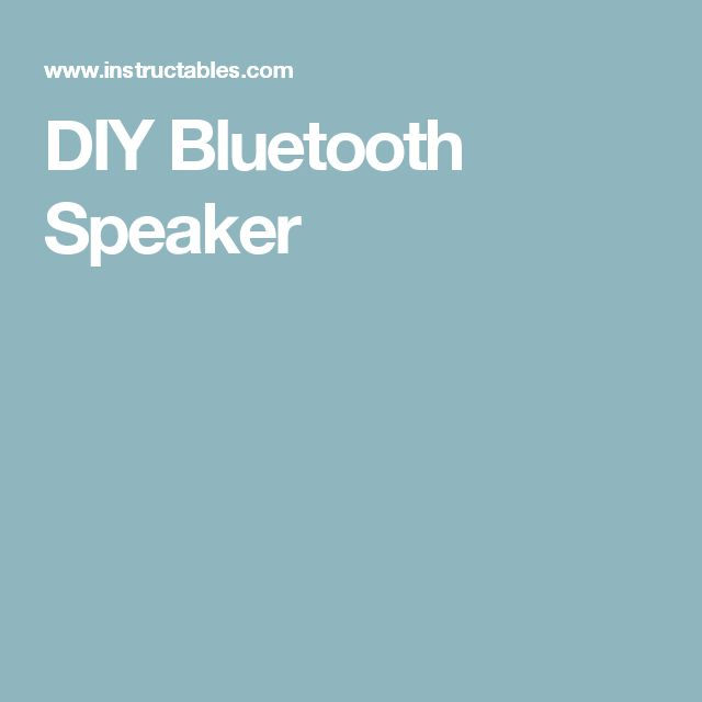 how to build my own computer speakers