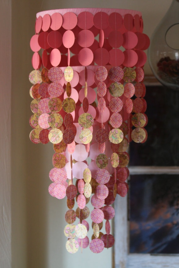 PerpetualMotionDecor paper chandelier/mobile, $45.00, etsy