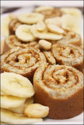 Żytni naleśnik Elvisa z masłem orzechowym i bananem