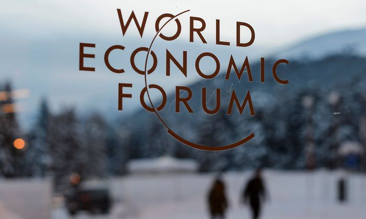 Political and business leaders gather at Swiss ski resort to discuss issues including robotics, terrorism, migration and inequality
