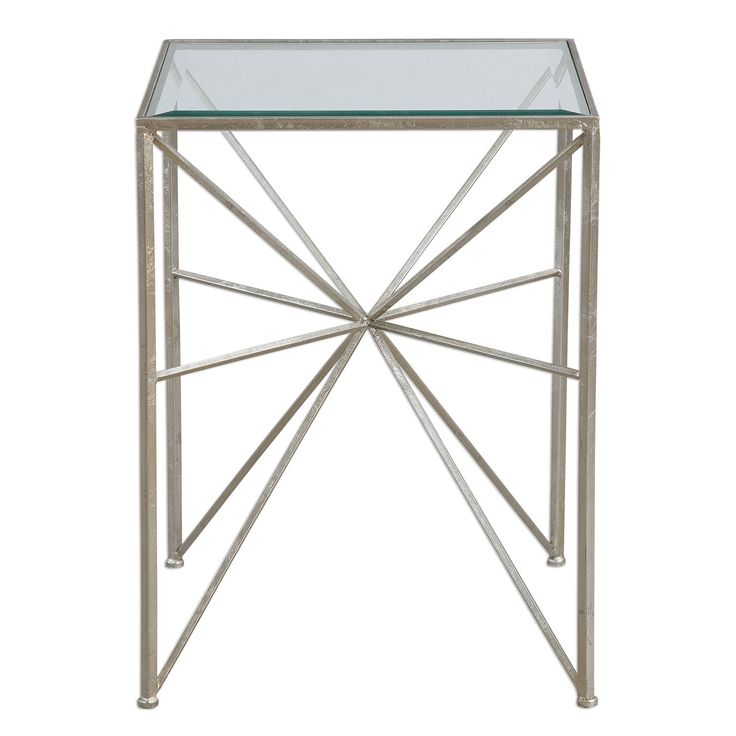 Uttermost Silvana Antique Silver Side Table