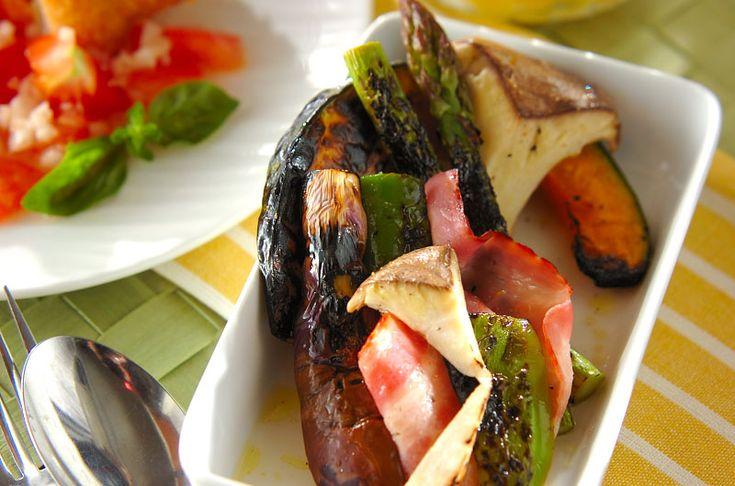 野菜に香ばしさをプラスしておいしさUP!グリル野菜のマリネ[洋食/焼きもの、オーブン料理]2015.06.08公開のレシピです。