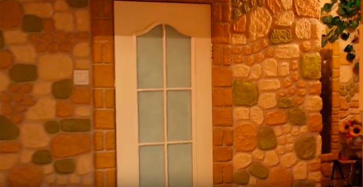 Самая удачная имитация каменной стены из папье-маше