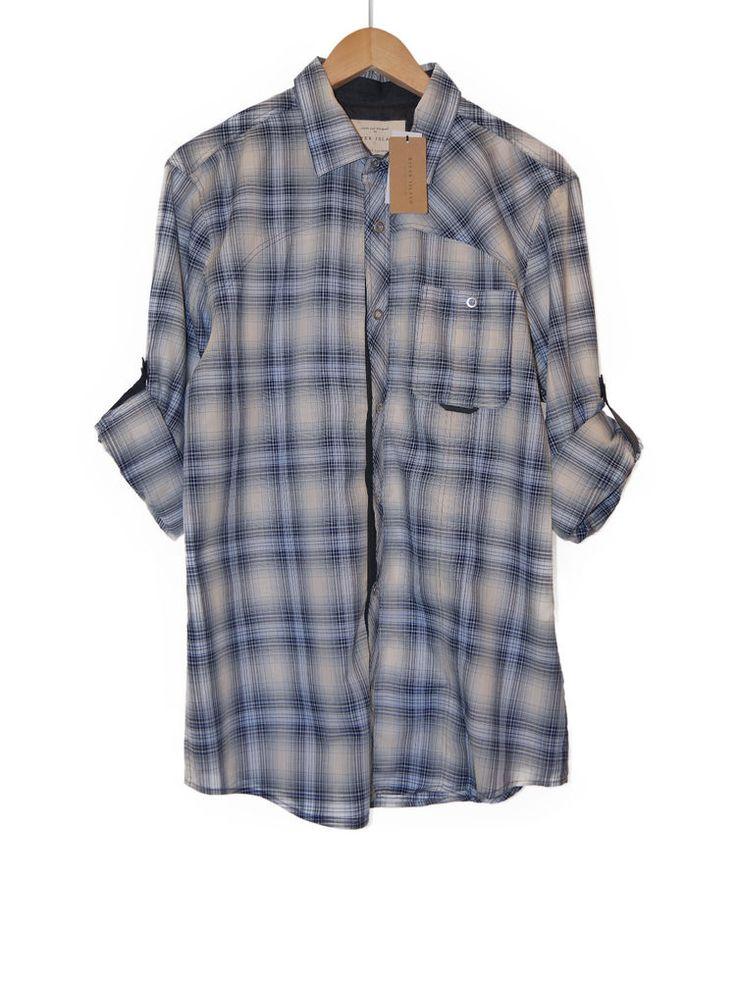 RIVER ISLAND WESTERN MENS SHIRT - BLUE CHECK - SIZE LARGE  #riverisland #check #smart #fashion #mens #clothing #shopping #stylish #casualshirt #mensshirt #shirt #checkshirt #blue #western #rolledsleeve #new #ebayfashion #ebay #bigbrands #brandnew #mensfashion #fashionclothing #mensfashionshirts #mensfashionjeans #mensfashionshorts #mensfashioncasual #mensfashionclothing #mensfashionwear #latestmensfashion #mensfashionstyle #newmensfashion